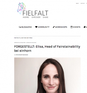 FIELFALT Interview