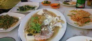 Chinese fish dinner