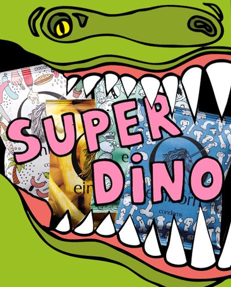Dino Kondompackung