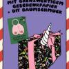 Brüste Postkarte, Einhorn Geschenkpapier