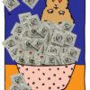 Illustrierter Hamster mit einer Schüssel einhorn 54mm Kondome von Sandra Bayer