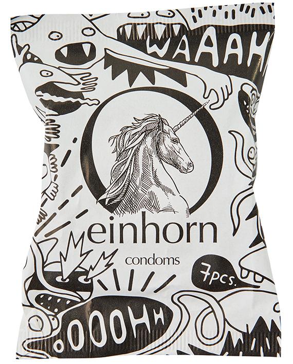 einhorn Spermamonster Kondomverpackung 54mm
