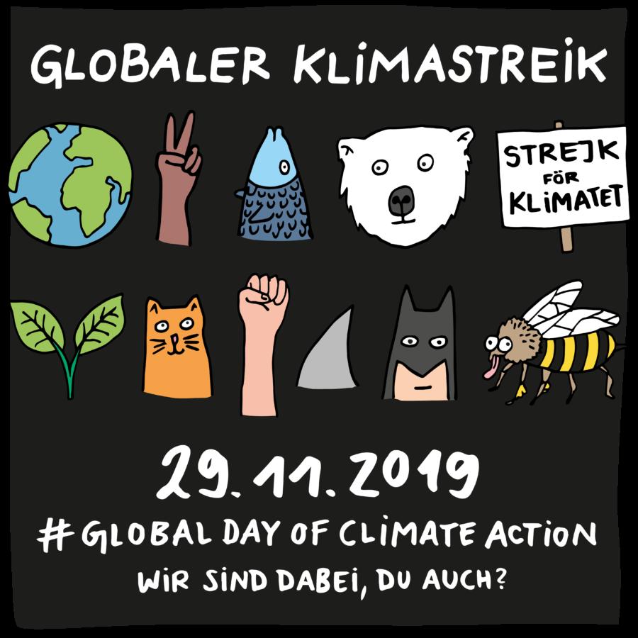 Globaler Klimastreik einhorn