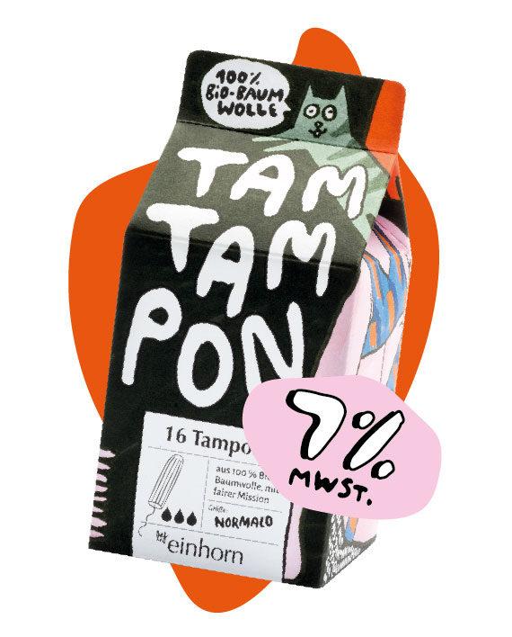 Tampon Normalo von einhorn Periode jetzt günstiger mit 7% Mehrwertsteuer