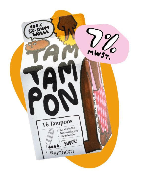 Tampon Super von einhorn Periode jetzt günstiger mit 7% Mehrwertsteuer