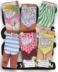 6 SlipFlip Slipeinlagen Verpackungen mit Unterkörpern von Menstruierenden