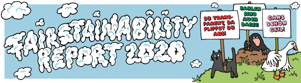 Illustration Sandra Bayer Banner einhorn Fairstainability Report 2020