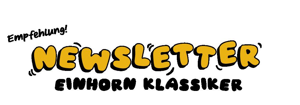 Banner Newsletter einhorn
