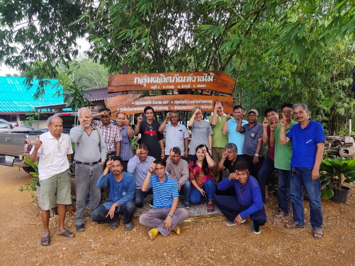 Latex Kleinbauern und einhorn in Thailand