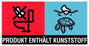 Produkt enthält Kunststoff Logo