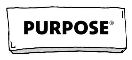 Logo der Purpose Stiftung mit Rahmen