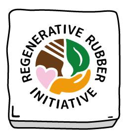 Logo der Regenerative Rubber Initiative mit Rahmen